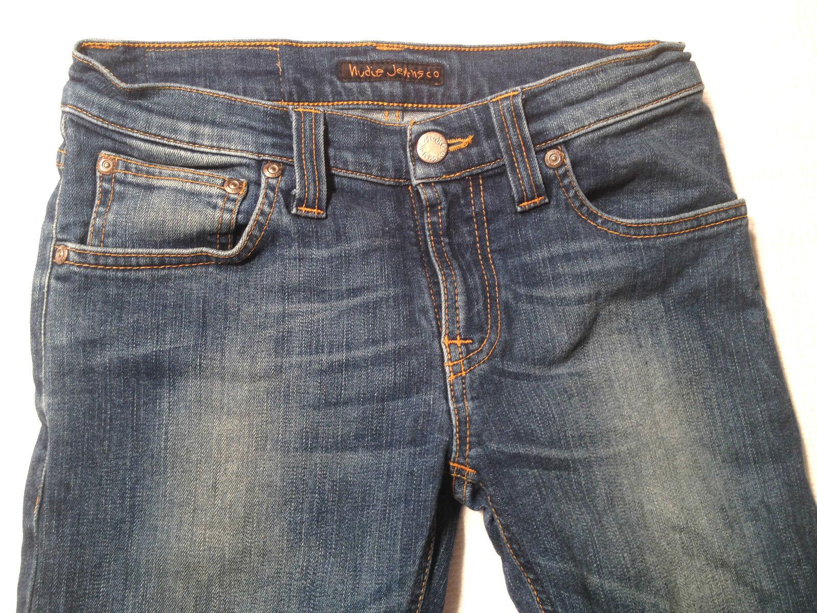 NUDIE Jeans 'TIGHT LONG JOHN BRIGHT blueE' W24 L32 AU6 US2 UK4 Womens or Girls