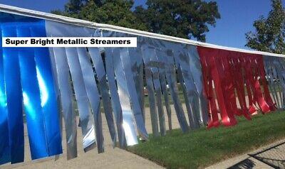 "METALLIC RAINBOW 25 UNIT CARTON 6/""x18/"" PENNANTS STREAMERS 60/' STRINGS"