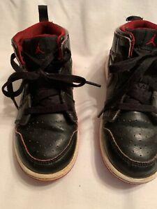 023956ace1dc69 Nike Air Jordan Retro 1 Mid Shoes TD 2015 Black Red 640735-028 ...