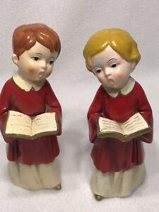 VTG-Mid-Century-PARMA-by-AAI-Japan-Ceramic-Choir-Boy-amp-Girl-Christmas-Carolers