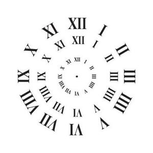 stencil clock face roman numerals - 3 sizes 8714772148618 | ebay