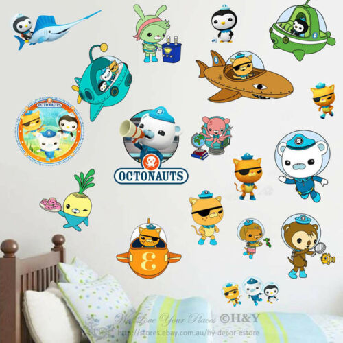 The Octonauts Cartoon Wall Stickers Kids Nursery Decor Vinyl Decal Art Mural DIY