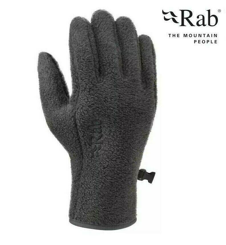 NEW Rab Longitude Fleece Gloves Thermal Warm Winter Glove Liner Mens Large Grey
