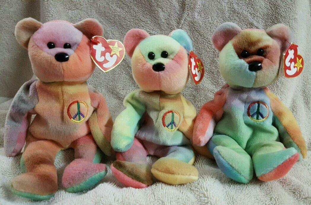 Ty beanie babys selten frieden bären mit tag - fehler