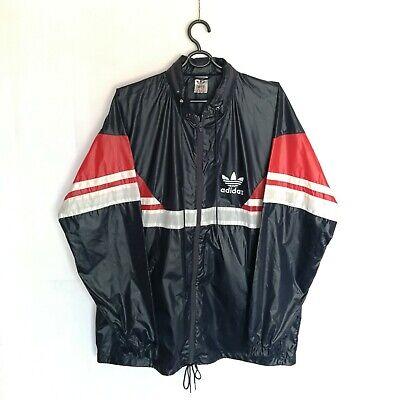 Ambizioso Vintage Adidas 70's/80's Giacca Antipioggia Impermeabile Made In Malesia Taglia L-mostra Il Titolo Originale