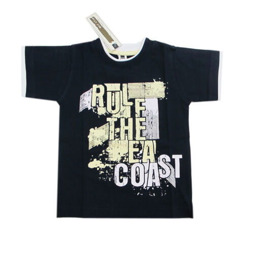 Teidem Boy Star T-Shirt kurzarm Rundhals blau Jungen Sommer Gr.92,98,104,110,122