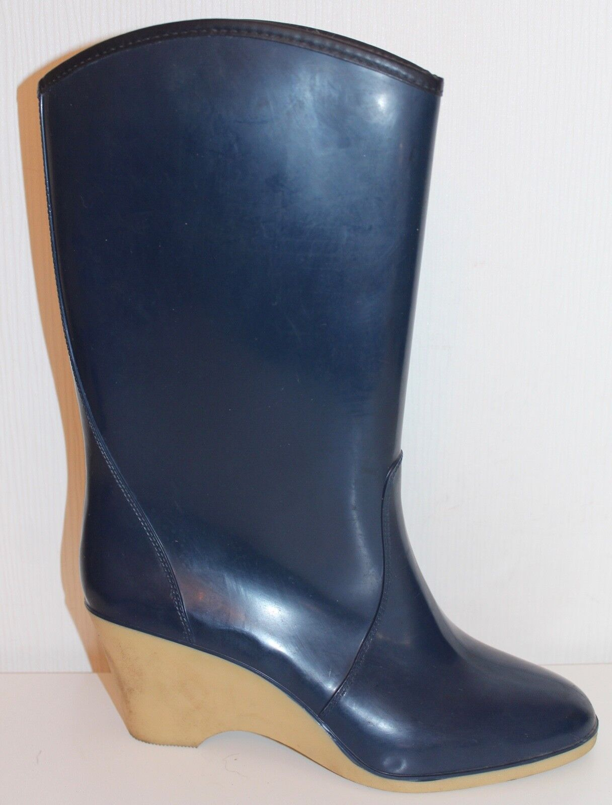 70s 70er vintage botas de goma botas de goma con el apartado True VTG rubber botas 38