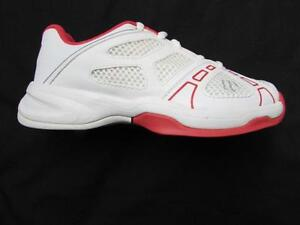 0854e1ad80aee Details about WILSON Rush Pro Junior 2 kids tennis shoes white cherry red  size 1 NEW