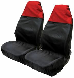 Red-amp-Black-Water-Resistant-Front-Seat-Covers-fits-Dodge-Ram-All-Years