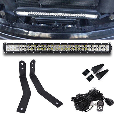 "09-14 Ford F150 Front Grille Pair 32/"" Combo LED Light Bar Bracket Upgrade Kits"