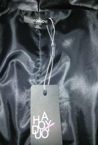 W Læder Jacket Pu High Chain Detail Coat Nwt Xxl Low Haoduoyi 8Rwq5T75
