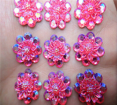 NEW DIY 15pcs 17mm resin flowers flatback Scrapbooking for phone/wedding, Crafts