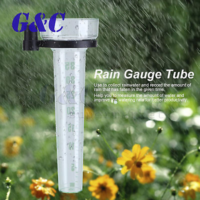 Polystyrene Rain Gauge Up to 35mm Measurement Tool For Garden Water Ground New
