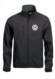 Cappotto Softshell Nero Ricamato Vw Volkswagen Quality CwAwv1nq