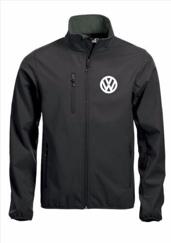 VW Volkswagen Qualità Giacca Softshell Cappotto Ricamato Nero