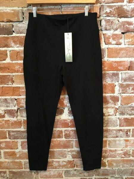 DG2 Diane Gilman 2Pc Comfort Elastic Waist Legging LEOPARD BLACK S NEW 548-318