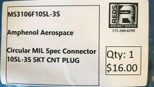 Amphenol Part Number MS3106F10SL-3S