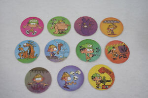"Section SpéCiale Lot De 11 Jetons ""padeuls"" Kid Paddle 1996 (caps/tazo/paddles/comic Shell/pog)"