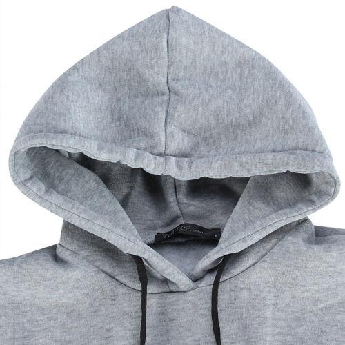ZANZEA Women/'s Long Sleeve Loose Casual Plus Sweatshirt Hoodies Long Maxi Dress