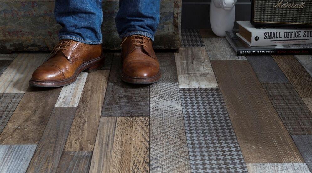 Pro m² - Gerflor TEXLINE PVC Vinyl Fußbodenbelag Linoleum Rolle PVC-Holz