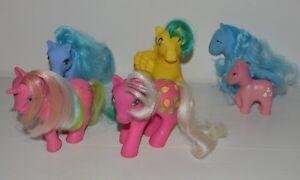 Capable Lot De 4 Mon Petit Poney Mlp Vintage G1 Années 80 Hong Kong Hasbro + Offerts