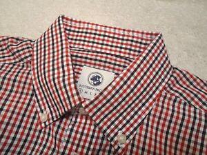 Southern-Proper-100-Cotton-Goal-Line-Tattersall-Check-Sport-Shirt-NWT-Small-98