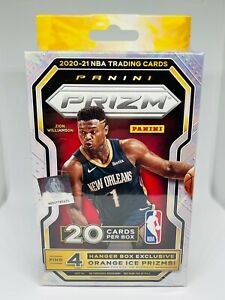 2020-21 Panini Prizm Basketball Hanger Box 20 Cards Orange Ice Brand New Sealed