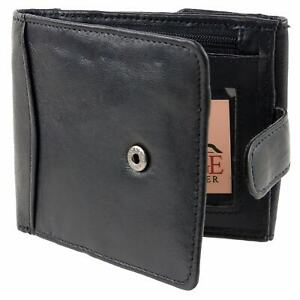 Mens-Gents-Soft-Nappa-Leather-Quality-Tabbed-Wallet-with-Coin-Pocket-Zipped