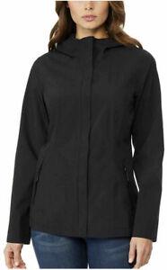32 Degrees Cool Size:MEDIUM M Women's Packable Rain Jacket Color:Black