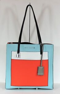 f9c36364eade New Marc Jacobs The Grind Color Block Leather Baby Blue Multi ...