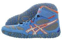Mens Asics Aggressor 2 Wrestling Shoes - 10.5 / 43.5 - Blue/silver/orange