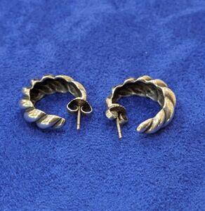 James Avery Rare Retired Silver Hoop Earrings Benefits Animal Rescue Ebay