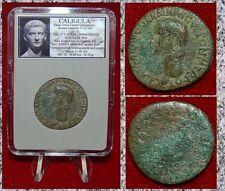 Roman Empire Coin CALIGULA Vesta Seated Holding Patera Reverse Rare Coin!