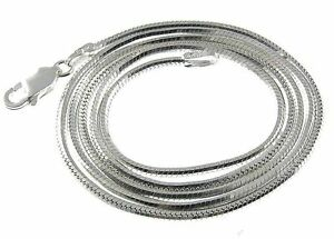 925-Silber-Halskette-Collier-Schlange-Diamantiert-2-4mm-Laenge-45-cm