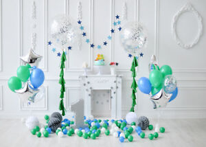 Image Is Loading One Year Old Birthday Party Balloon Decor Photography