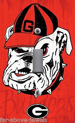 Georgia Bulldogs Light Switch Covers Football NCAA Home Decor Outlet