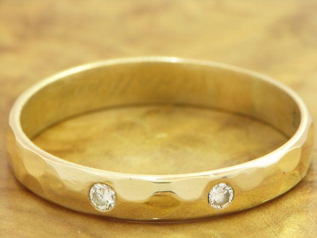 14kt 585 gold yellowgold RING MIT 0,10ct. BRILLANT BESATZ BRILLANTRING