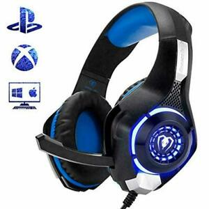CUFFIE BEEXCELENT GM-1 GAMING GIOCO LED BLU PER PS4 XBOX...