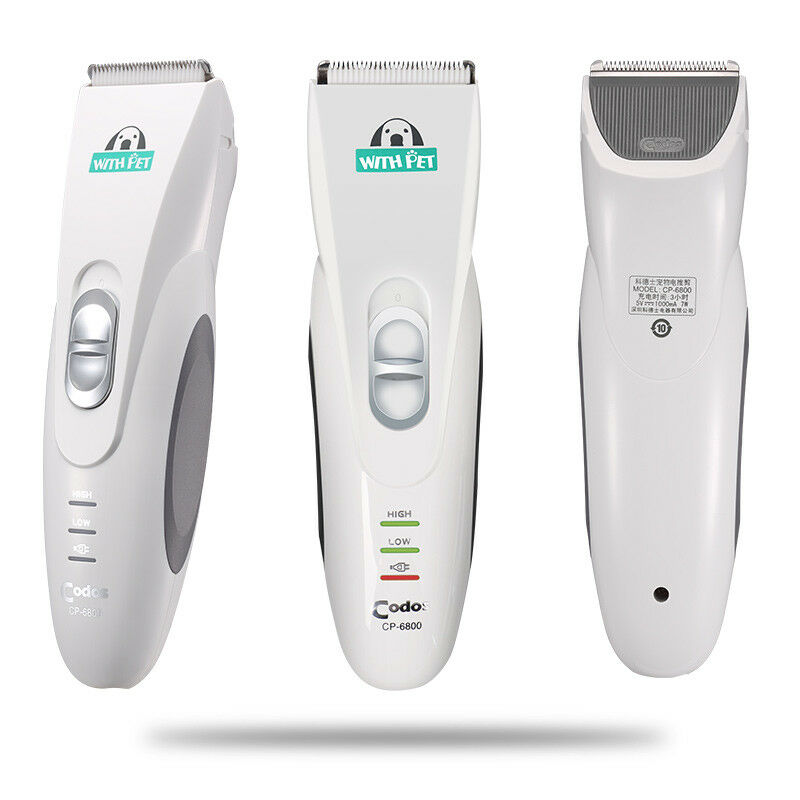 Professional Dog Clipper Low Noise Cordless Electric Pet Grooming Hair Trimmer