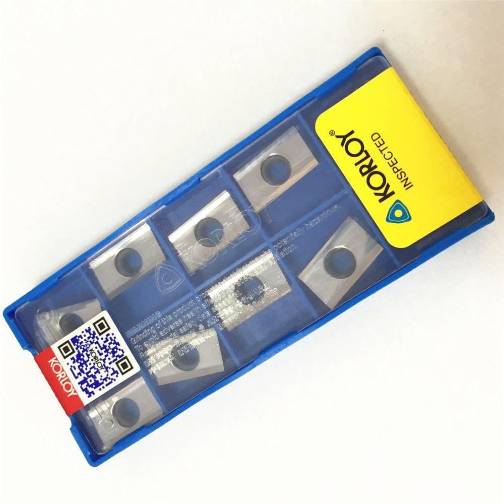 10pcs//box NEW Korloy APKT1604PDFR-MA3 H01 Carbide Insert