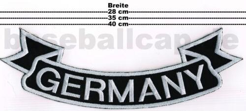 Patch ricamate GERMANY #1 schiena fiocco in basso Germania 28-35 o 40cm