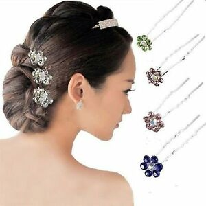 10pcs-Bridal-Jewelry-Clear-Crystal-Rhinestone-Hair-Accessory-Hair-Pins