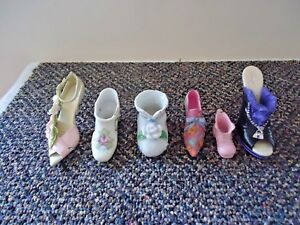 Mixed-Lot-Of-6-Miniature-Collectible-Shoes-2-Just-The-Right-Shoe-4-Other