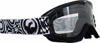 DRAGON MDX JET BLACK CLEAR GOGGLES FOR ATV MOTORCYCLE MOTOCROSS MX 722-1096