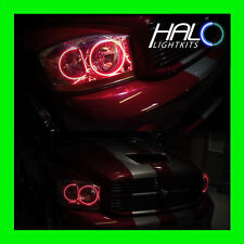 2006-2008 Oracle Lighting DODGE RAM RED LED Headlight Halo Ring Kit 4 RINGS