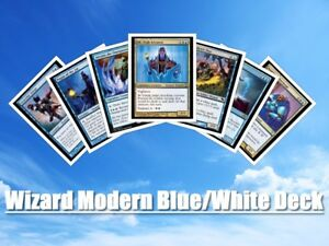 mtg blue white modern wizard card draw deck magic the gathering