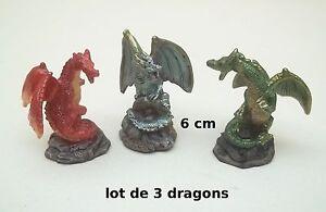lot de trois dragons- dragon couleur- 6 cm figurine lot 1 *G33 CkwndlZ2-09093205-739304380