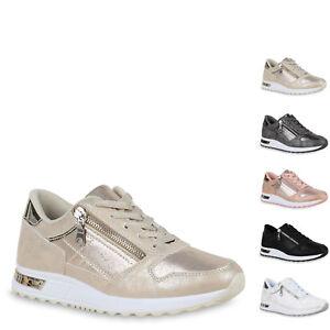 Damen Sportschuhe Glitzer Laufschuhe Lack Turnschuhe Sneaker 822799 Top
