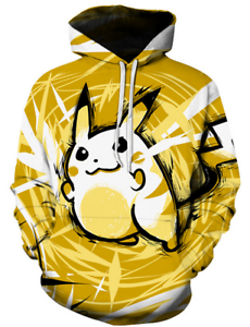 New Fashion Women//Men Pokemon Pikachu 3D Print Casual Hoodies Sweatshirt 248