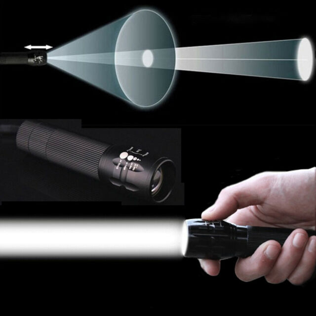 2000 Lumen LED Zoomable  Flashlight Focus Torch Lamp Light